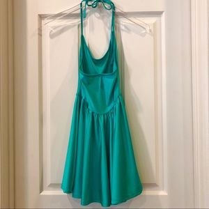 American Apparel Dresses - American Apparel | Teal Halter Skater Dress